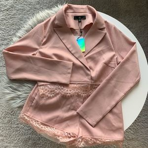 [NWT] Missguided Cropped Blazer and Short Set
